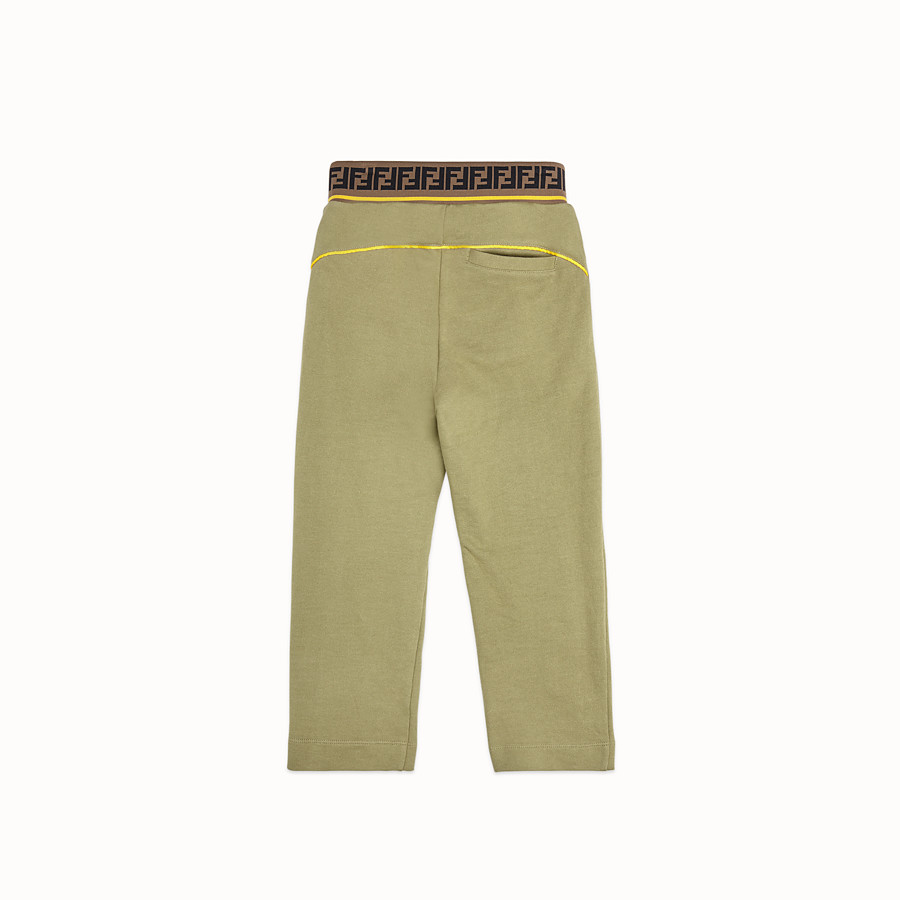 FENDI TROUSERS - Khaki fleece trousers - view 2 detail