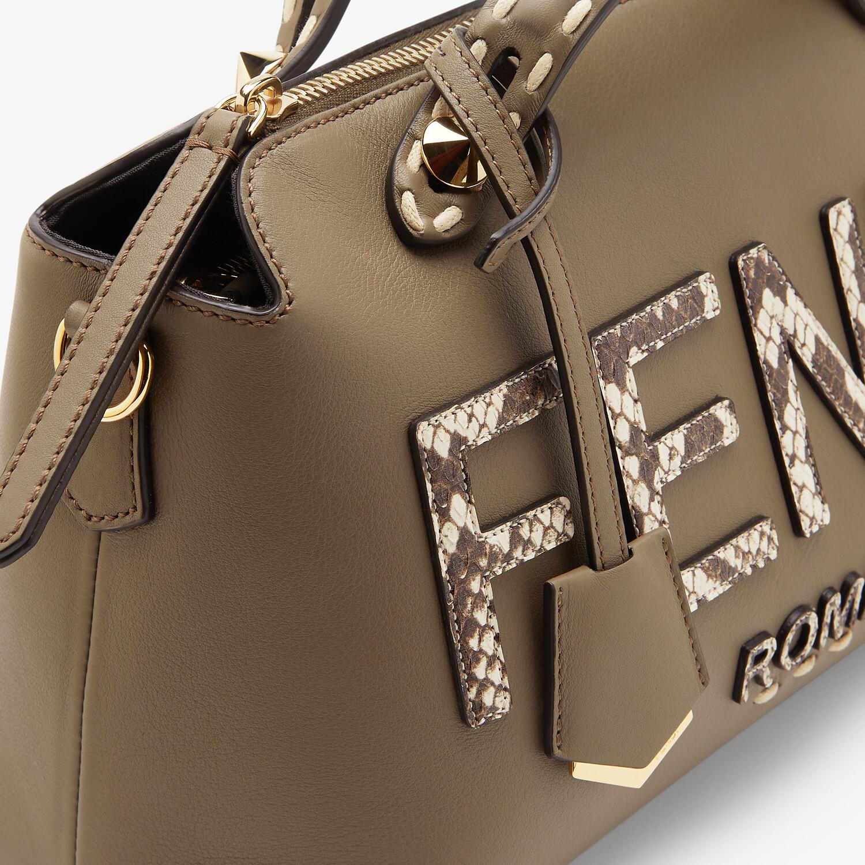 FENDI BY THE WAY MEDIUM - Grey leather and elaphe Boston bag - view 6 detail