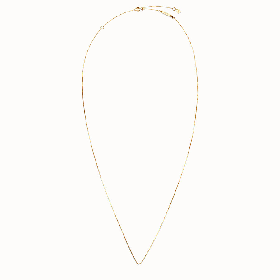FENDI NECKLACE - Long gold-finish metal necklace - view 1 detail