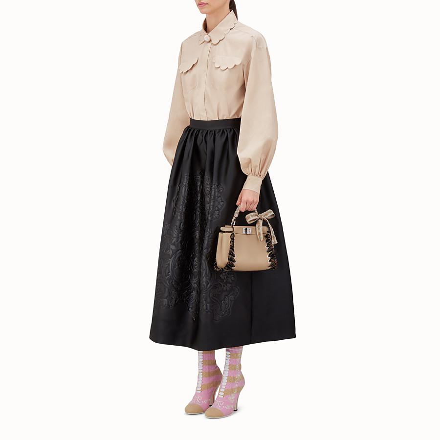 FENDI PEEKABOO MINI - light brown leather handbag - view 5 detail