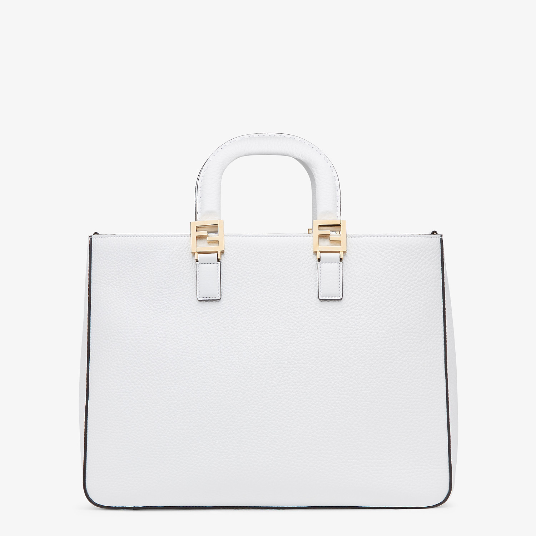 FENDI FF TOTE MEDIUM - White Cuoio Romano leather bag - view 4 detail