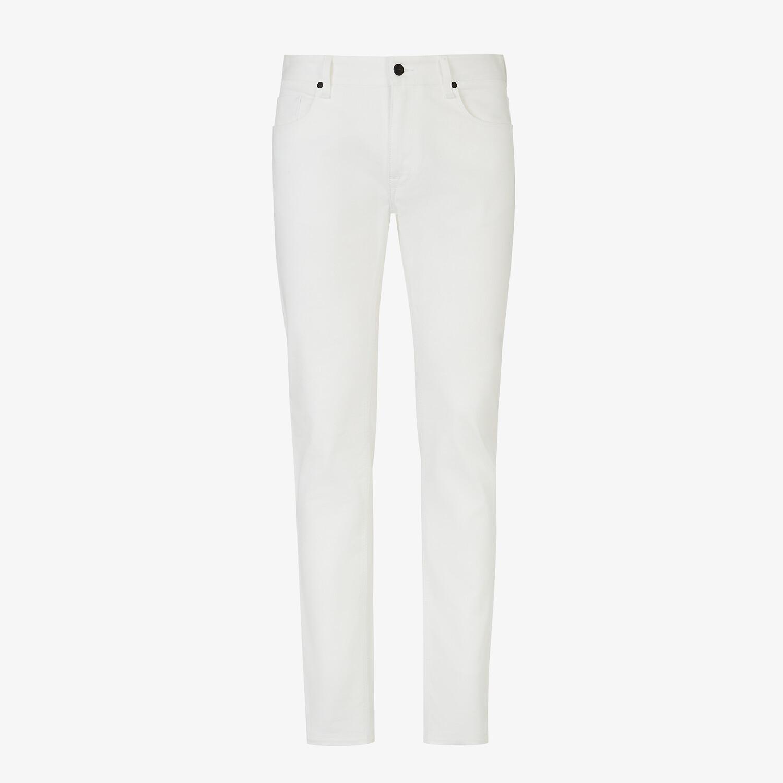 FENDI DENIM - White denim jeans - view 1 detail