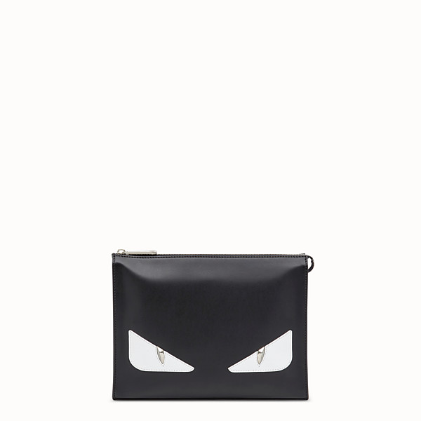 FENDI CLUTCH - Black leather pochette - view 1 small thumbnail