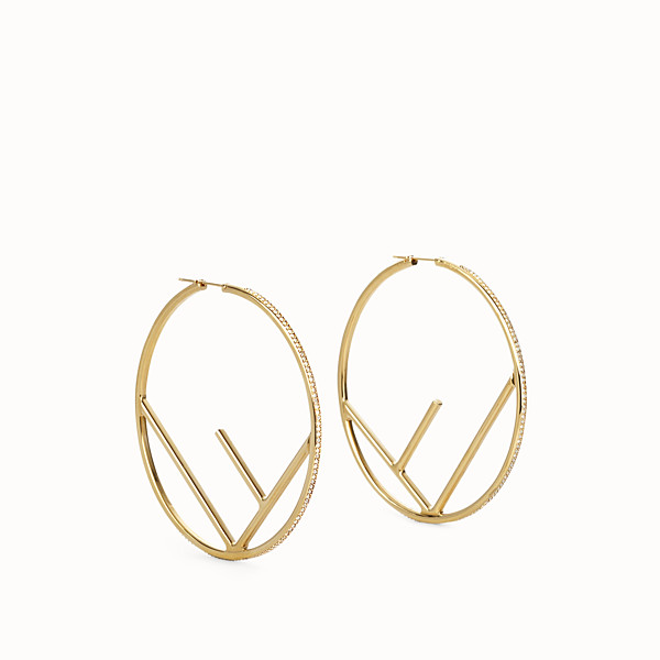 FENDI F IS FENDI EARRINGS - Gold-color earrings - view 1 small thumbnail
