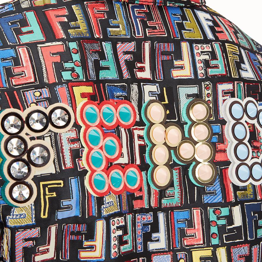 FENDI JACKET - Multicolour jacquard fabric jacket - view 4 detail