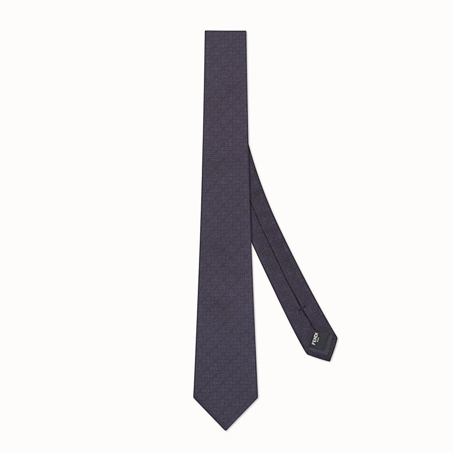 FENDI TIE - Blue silk tie - view 1 detail