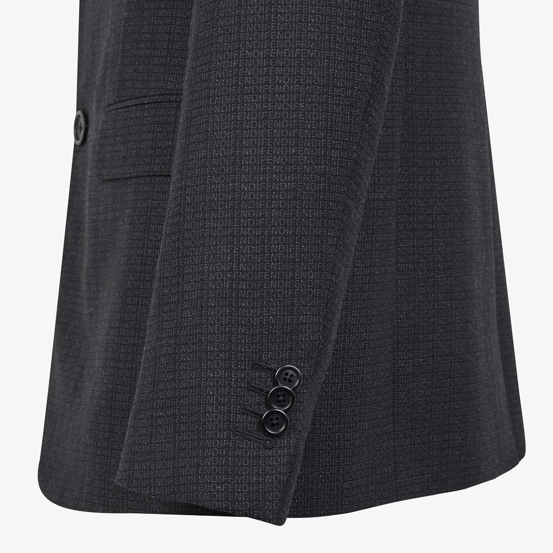 FENDI JACKET - Blazer in black cotton, silk and wool - view 3 detail