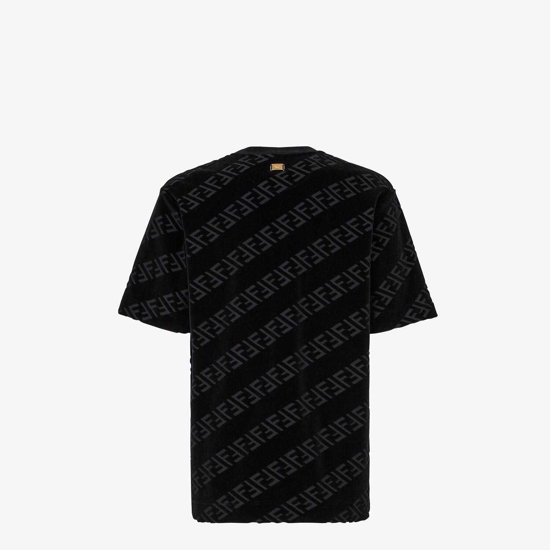 FENDI T-SHIRT - Black velvet T-shirt - view 2 detail