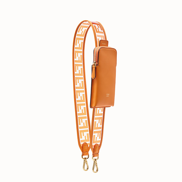 FENDI STRAP YOU - Shoulder strap in transparent canvas - view 1 small thumbnail