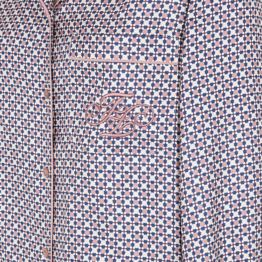 FENDI SHIRT - Multicolour silk shirt - view 3 detail