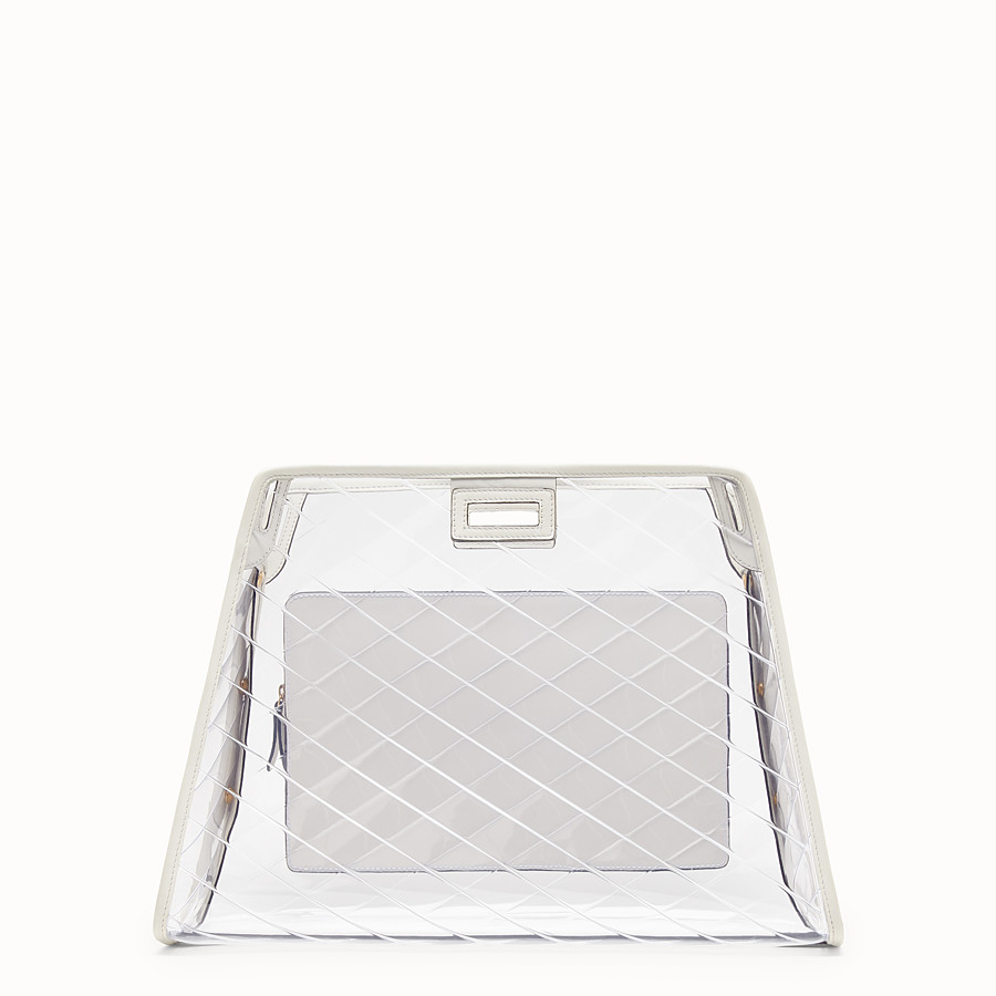 FENDI MEDIUM PEEKABOO DEFENDER - White leather Peekaboo cover - view 3 detail