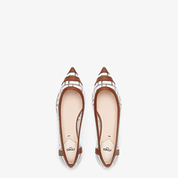 FENDI BALLERINAS - Flache Schuhe aus PU und Leder in Weiß - view 4 thumbnail