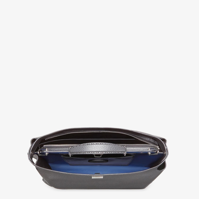 FENDI PEEKABOO ICONIC ESSENTIAL - Gray leather bag - view 4 detail
