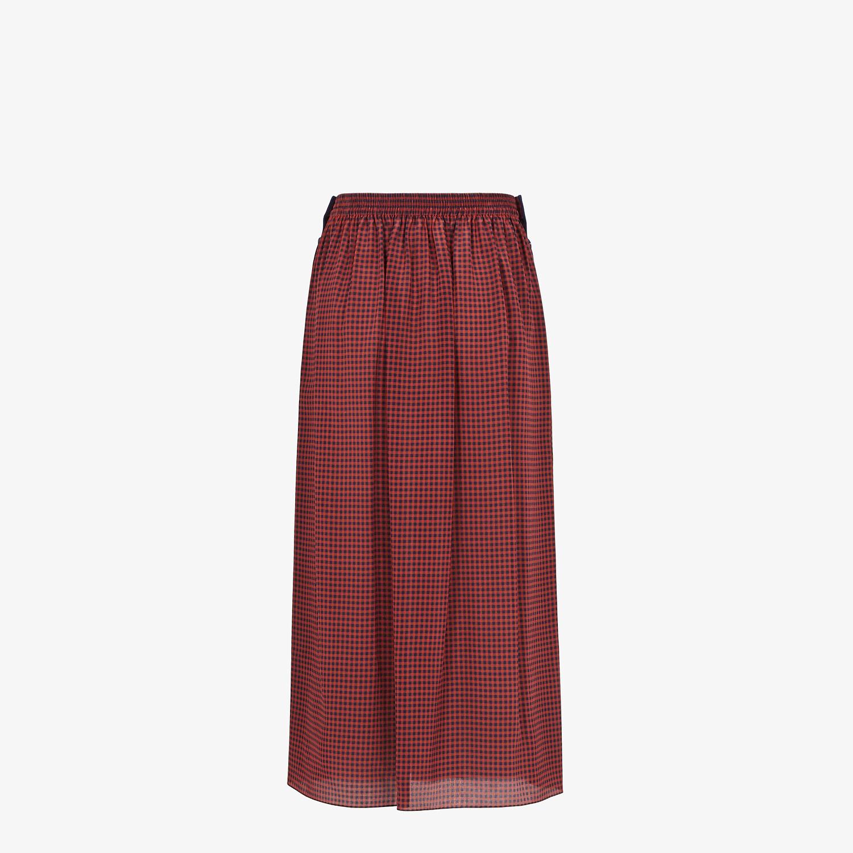 FENDI SKIRT - Check silk skirt - view 2 detail