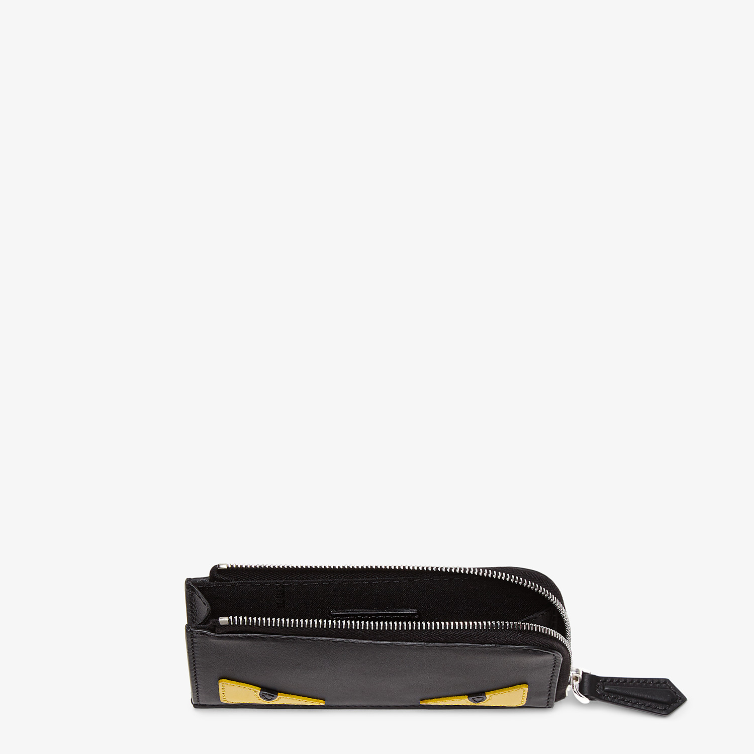 FENDI COIN PURSE - Black leather pouch - view 3 detail