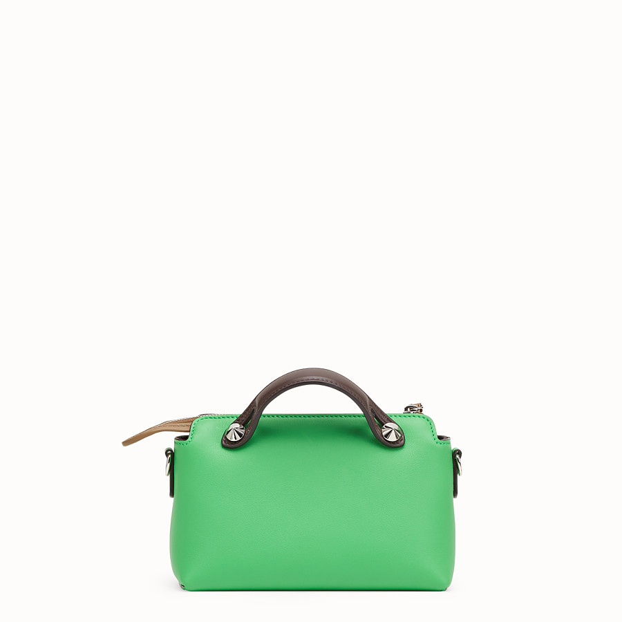 FENDI BY THE WAY MINI - Bauletto piccolo in pelle verde - vista 4 dettaglio