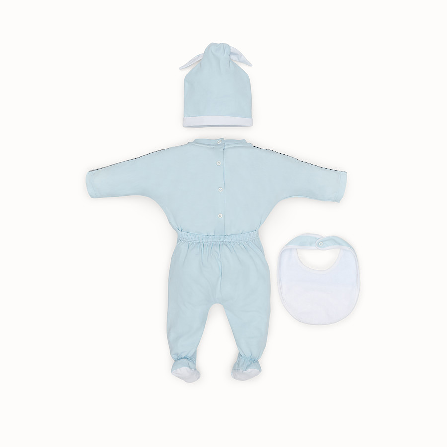 FENDI BABY BOY KIT - Light blue cotton kit - view 2 detail