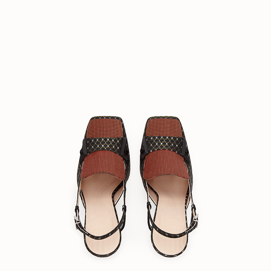 FENDI SLINGBACK - Black nappa slingbacks - view 4 detail