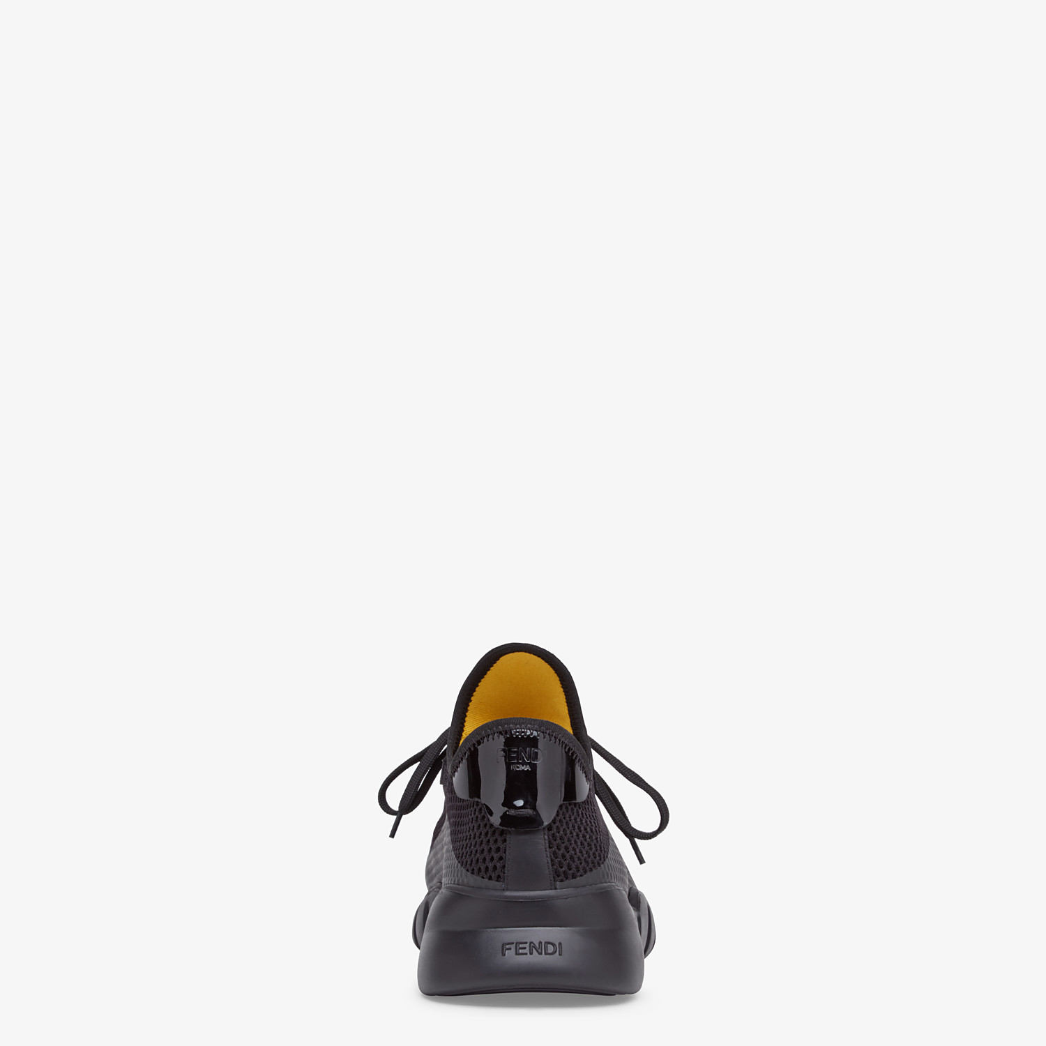 FENDI SNEAKERS - Black tech mesh running shoes - view 3 detail