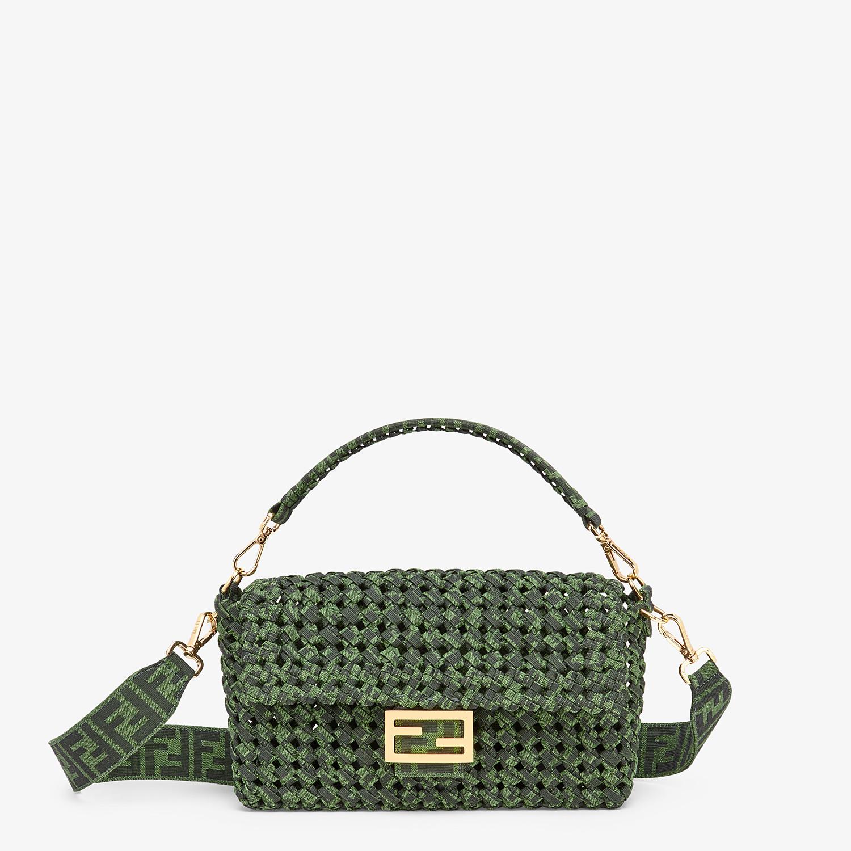 FENDI BAGUETTE - Jacquard fabric interlace bag - view 1 detail