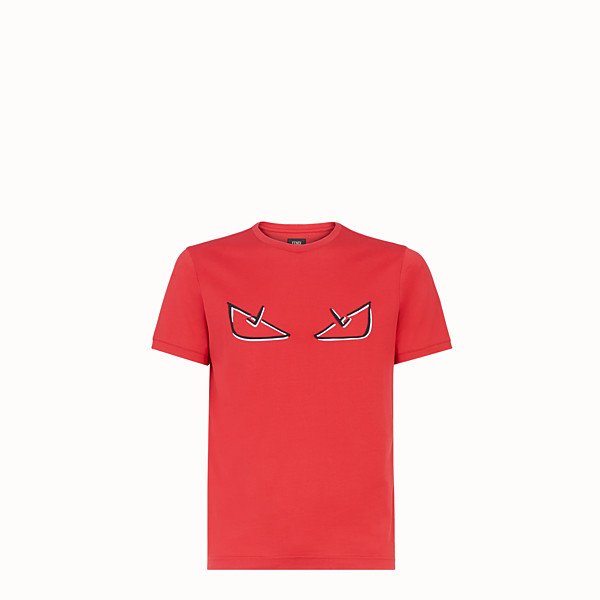 FENDI T-SHIRT - Red cotton T-shirt - view 1 small thumbnail