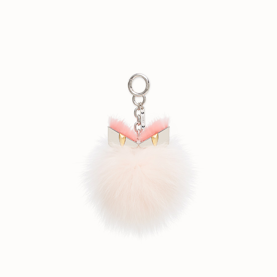 FENDI BAG BUGS CHARM - Pink fur charm - view 1 detail