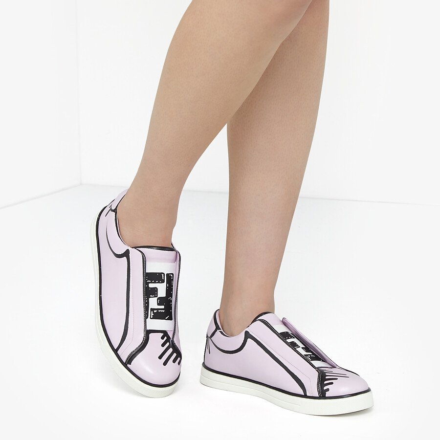 FENDI SNEAKERS - Fendi Roma Joshua Vides nappa leather slip-ons - view 5 detail
