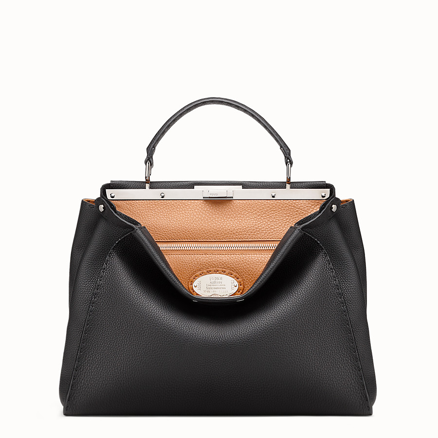 FENDI SELLERIA PEEKABOO - Black leather handbag - view 1 detail