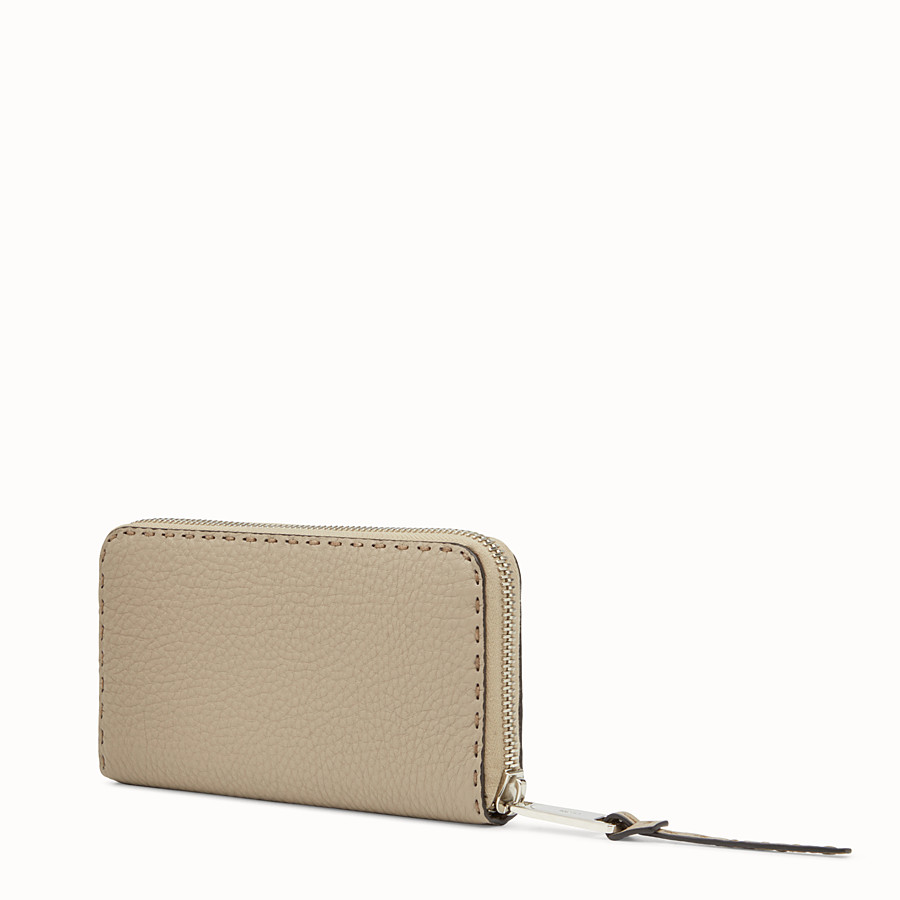 FENDI ZIP AROUND - Zip around Selleria beige - vista 2 dettaglio