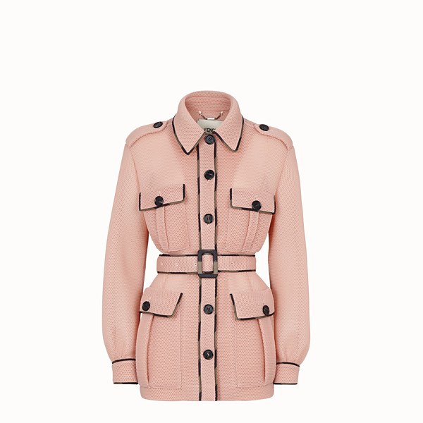FENDI JACKET - Safari jacket in pink tech mesh - view 1 small thumbnail