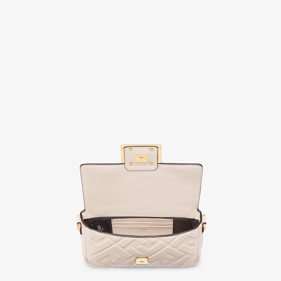 FENDI BAGUETTE - White nappa leather FF bag - view 4 detail