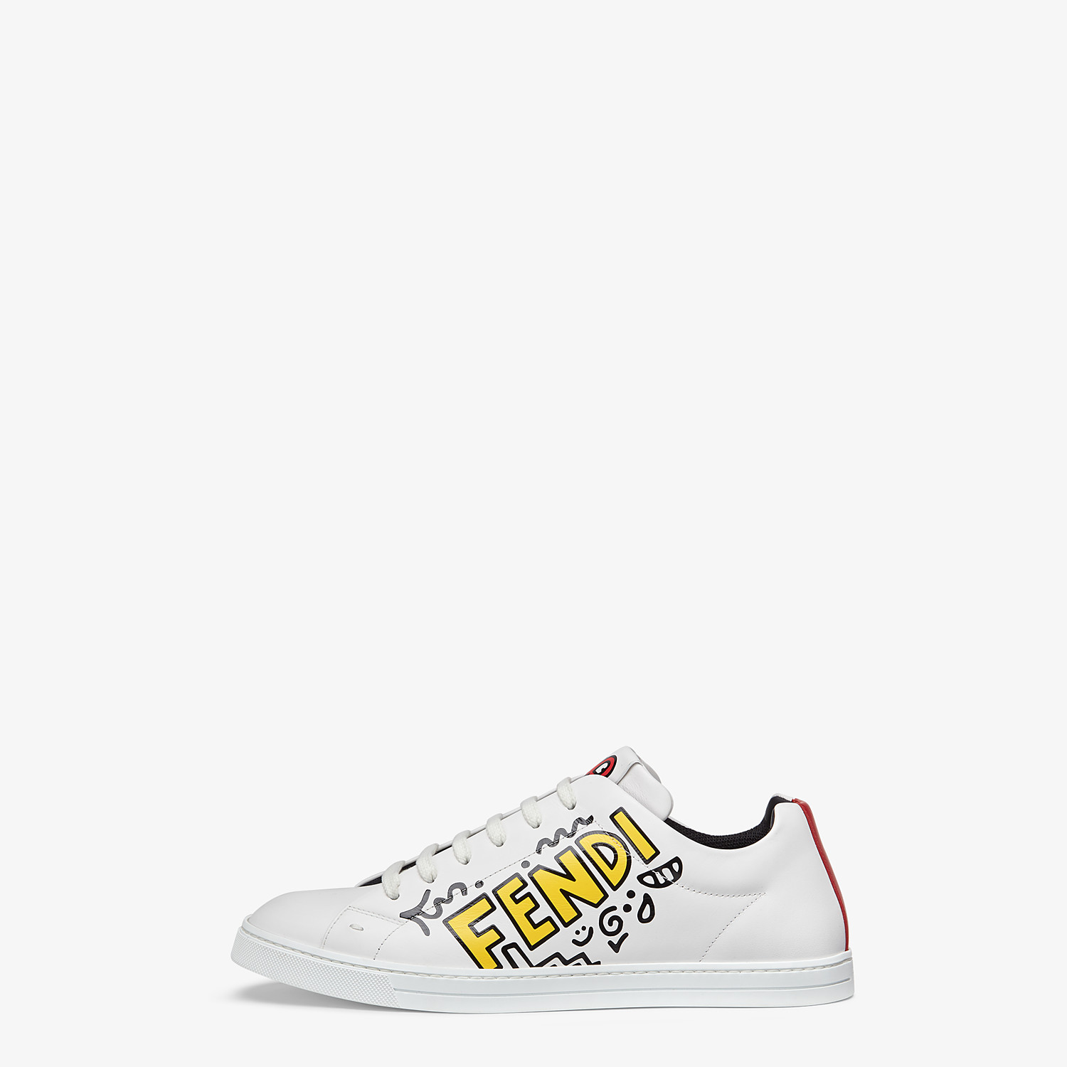 FENDI SNEAKERS - Leather low tops from the Mr. Doodle capsule - view 2 detail