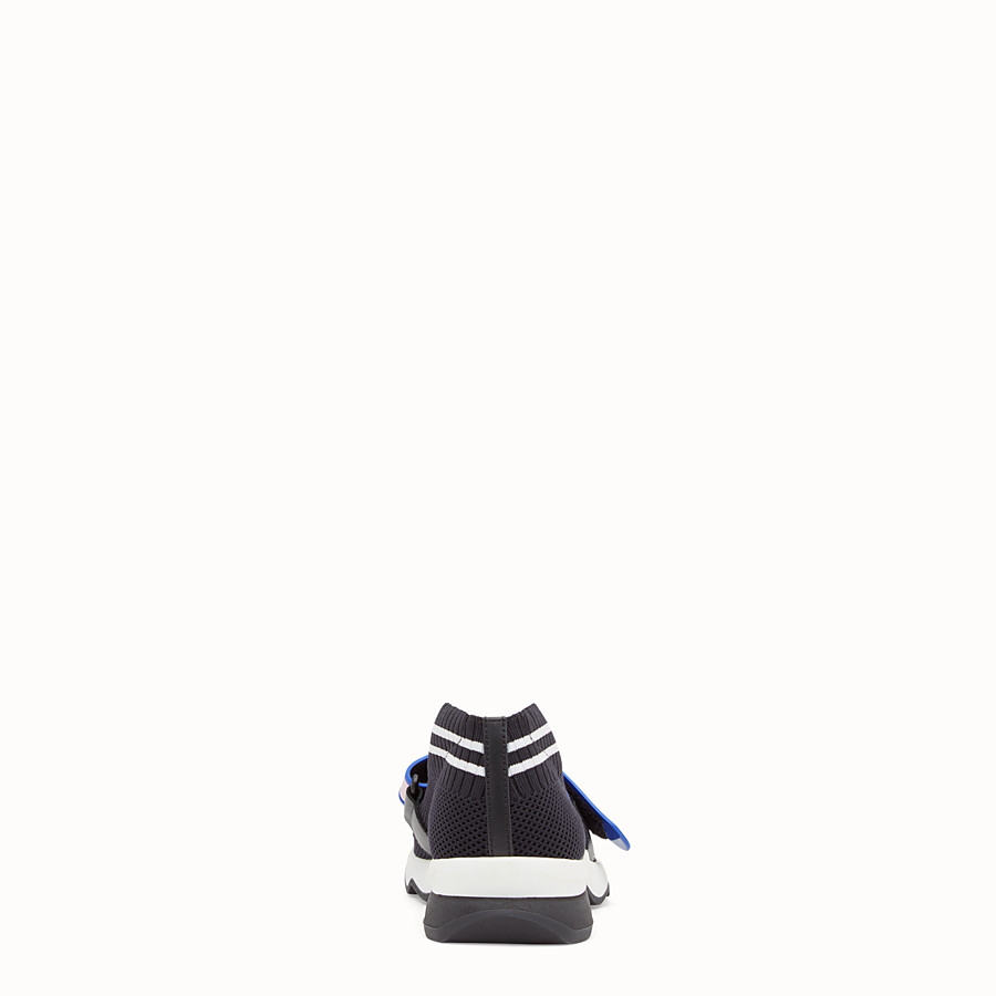 FENDI SNEAKERS - Black fabric sneakers - view 3 detail