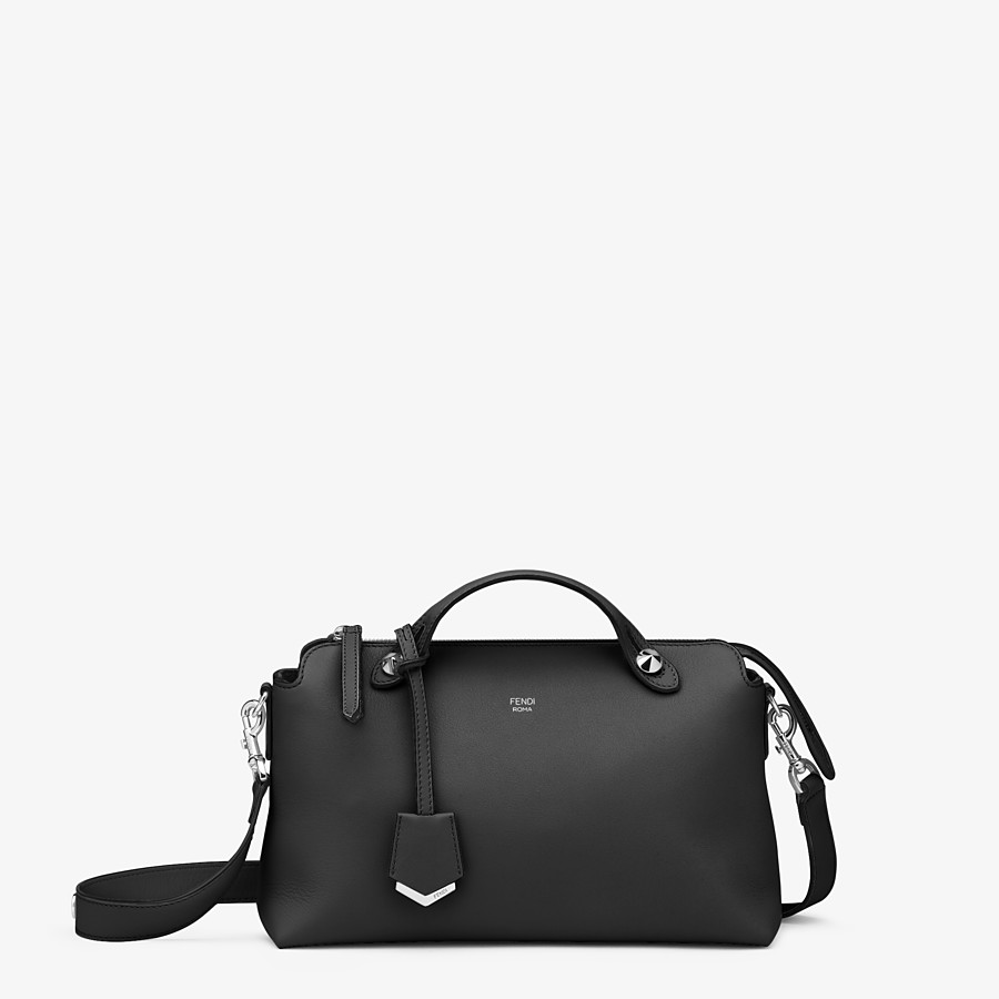 FENDI BY THE WAY MEDIUM - Black leather Boston bag - view 1 detail