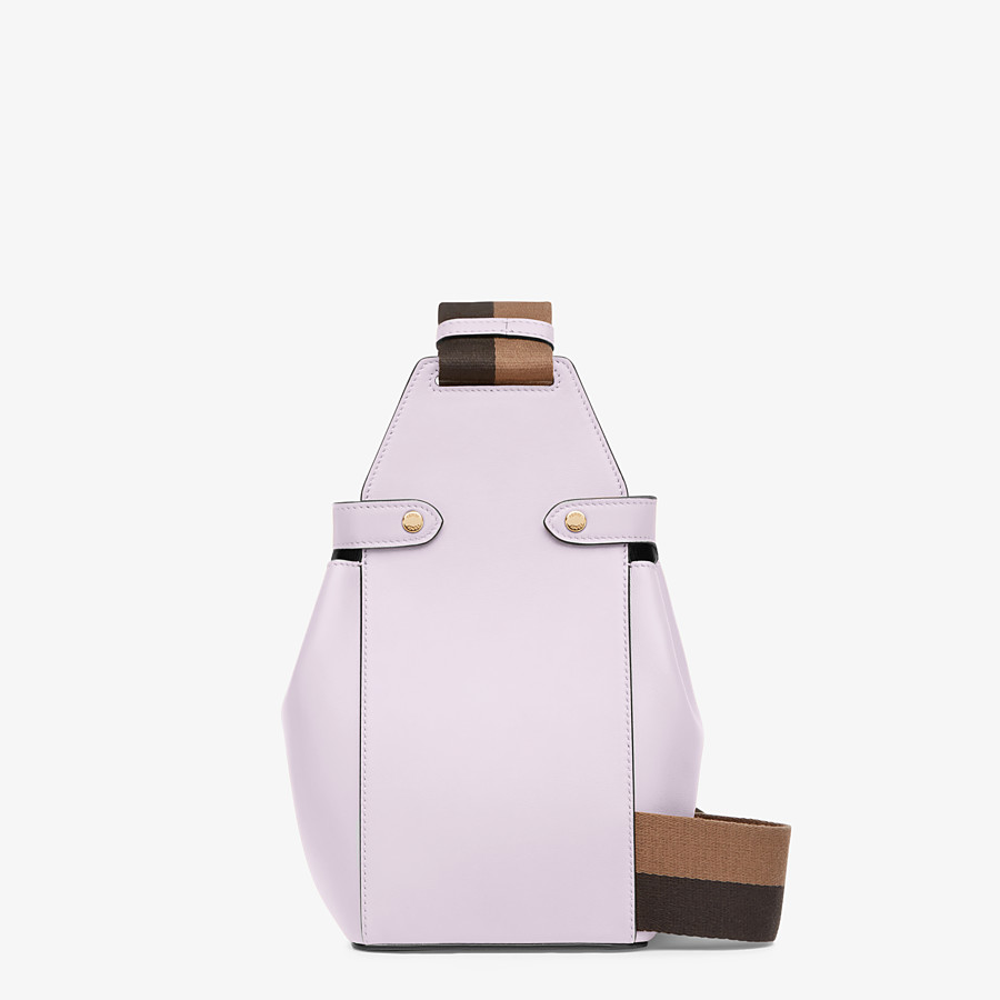 FENDI GUITAR BAG - Lilac leather mini-bag - view 3 detail