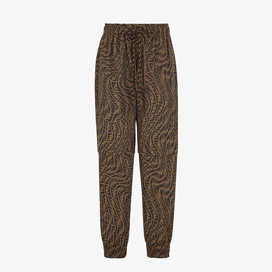 FENDI PANTS - Brown canvas pants - view 1 detail