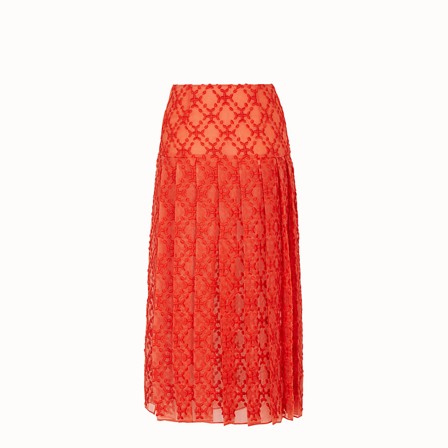 FENDI SKIRT - Orange organza skirt - view 2 detail
