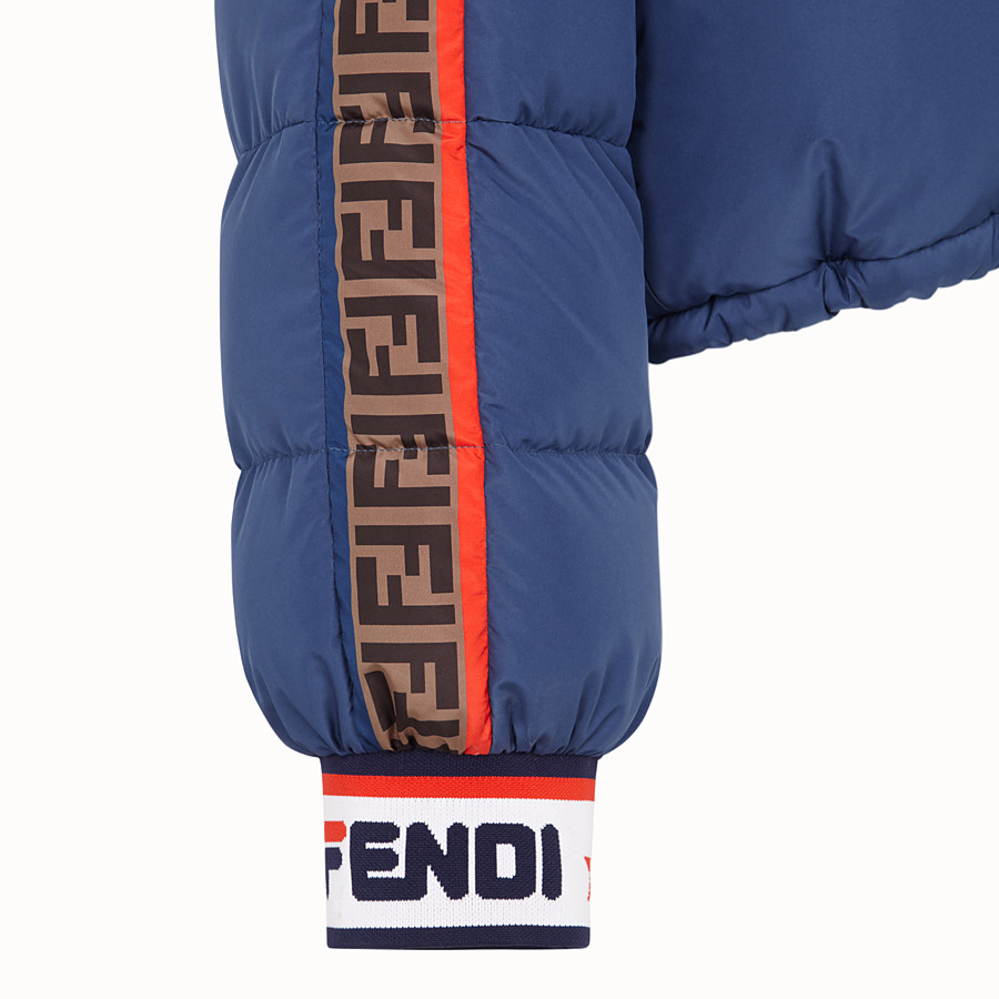 FENDI SHORT DOWN JACKET - Multicolour padded down jacket - view 3 detail