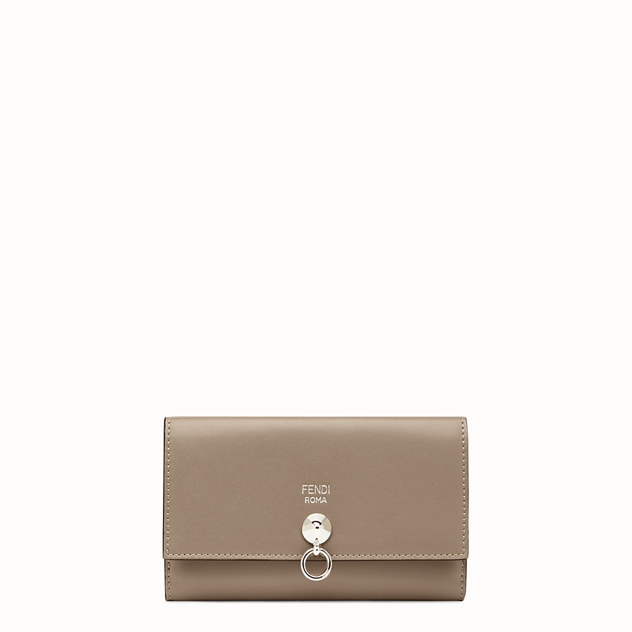 FENDI CONTINENTAL MEDIUM - Grey leather wallet - view 1 detail