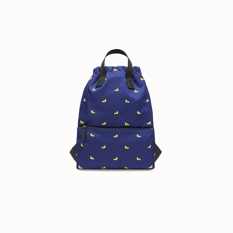 FENDI BABY BACKPACK - Blue and yellow nylon backpack - view 1 detail