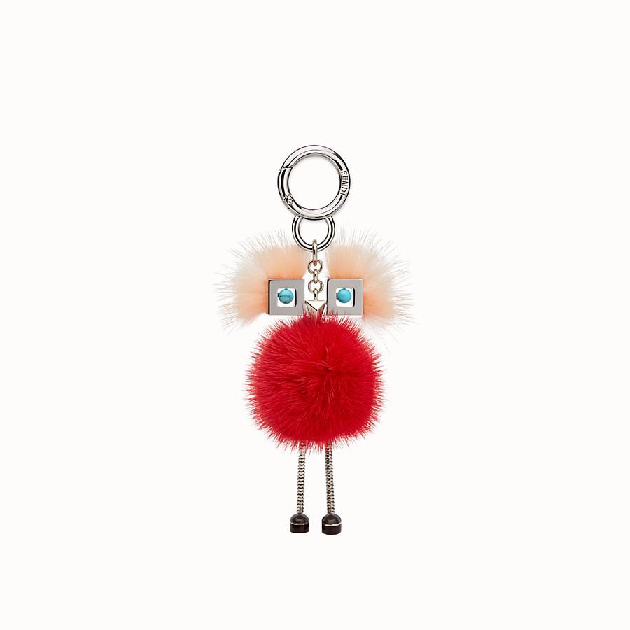 FENDI CHICK手袋吊飾 - 粉紅色及紅色毛皮吊飾 - view 2 detail
