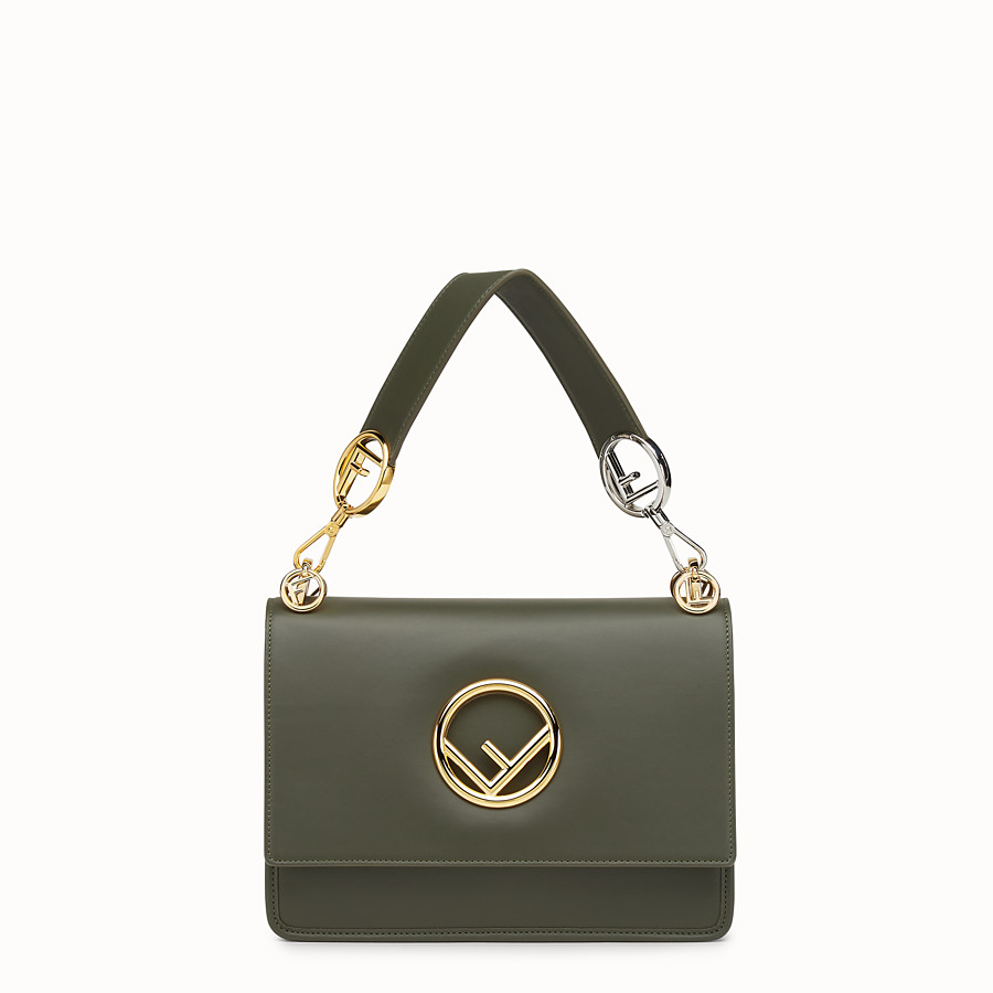 FENDI KAN I F - Green leather bag - view 1 detail