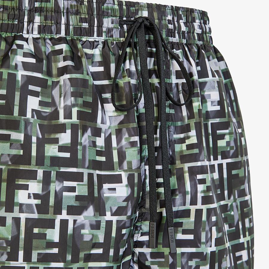 FENDI SWIM SHORTS - Multicolor tech fabric shorts - view 3 detail