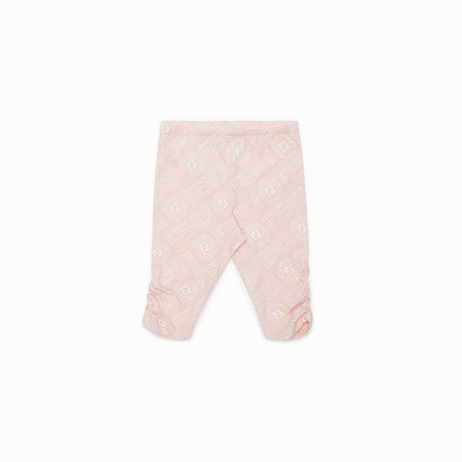 FENDI LEGGINGS - Pink cotton leggings - view 1 detail