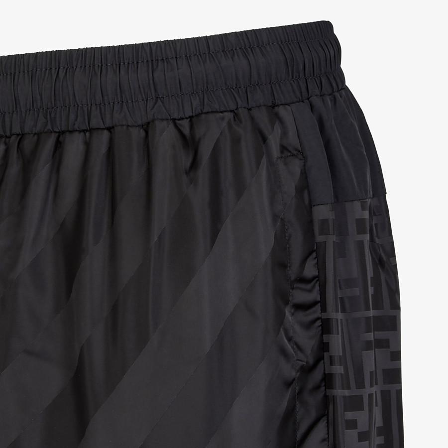 FENDI TROUSERS - Black tech fabric trousers - view 3 detail