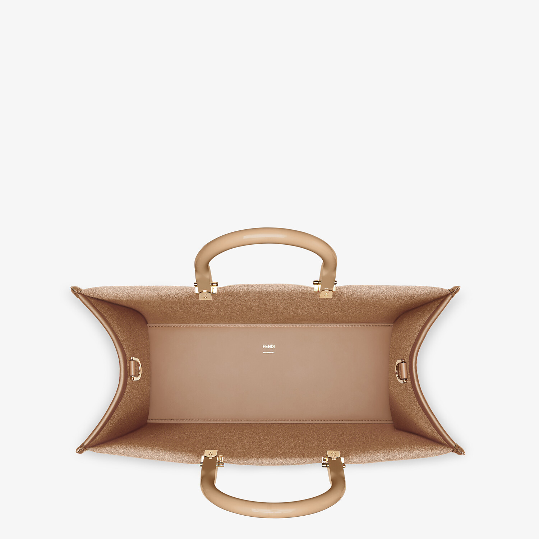 FENDI FENDI SUNSHINE MEDIUM - Brown flannel shopper bag - view 4 detail
