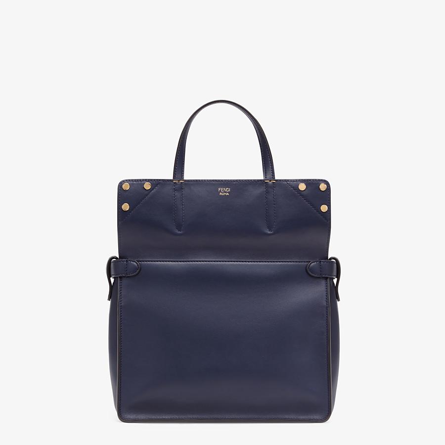 FENDI FENDI FLIP MEDIUM - Dark blue leather bag - view 2 detail