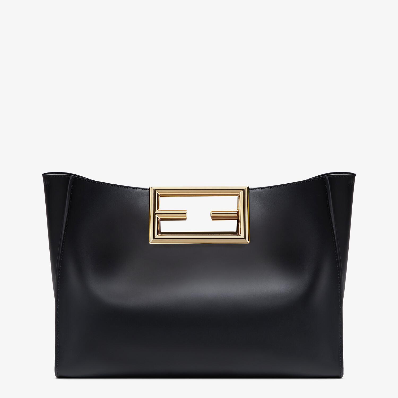 FENDI FENDI WAY MEDIUM - Black leather bag - view 1 detail