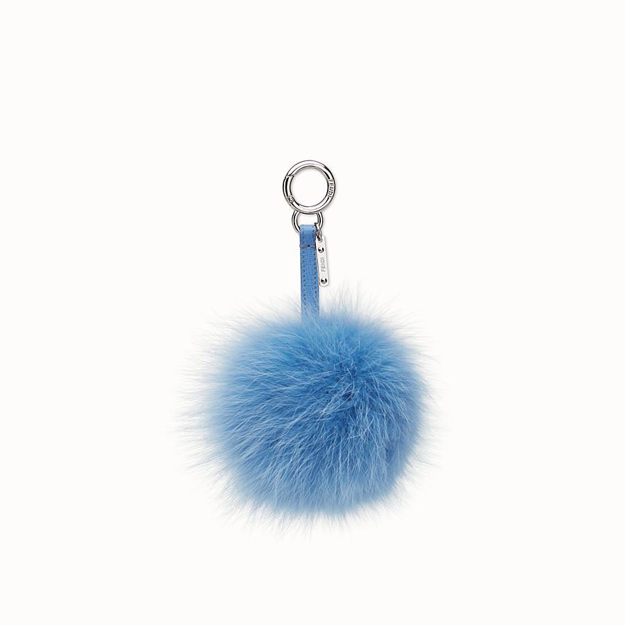 FENDI POMPON手袋吊飾 - 淺藍色毛皮 - view 1 detail