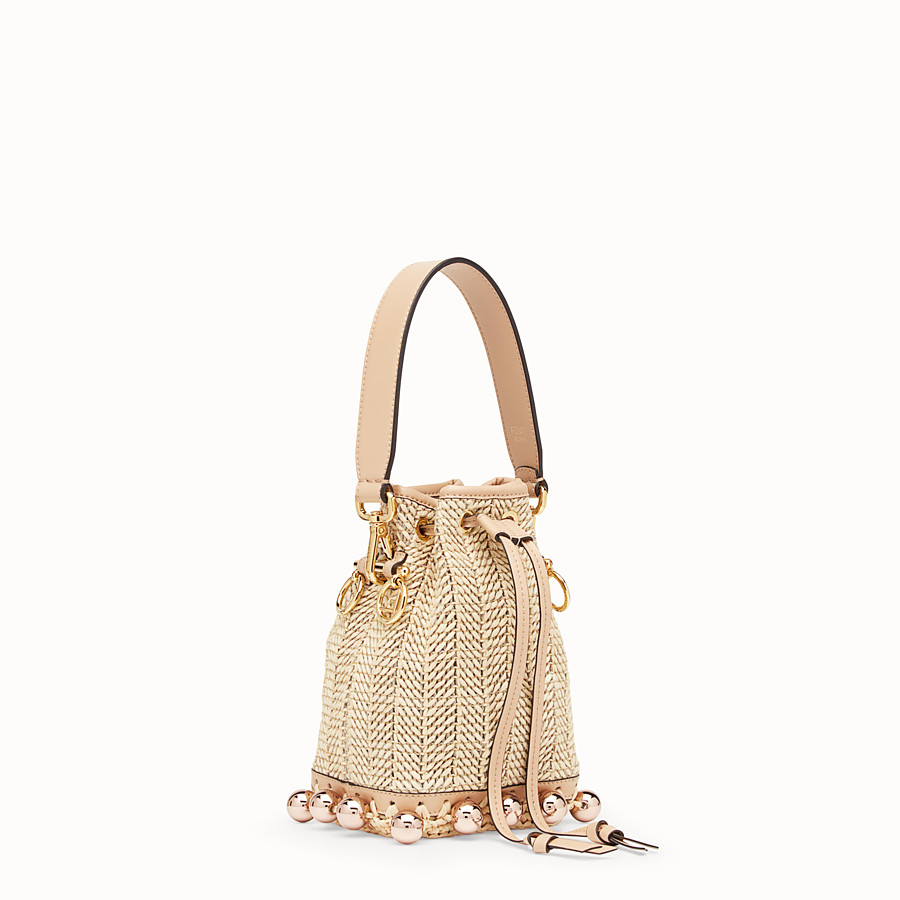 FENDI MON TRESOR - Raffia and beige leather mini-bag - view 2 detail